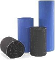 48 x 250 single face corrugated plastic roll, black, blue, white